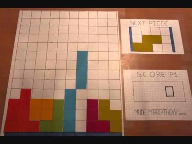 Stop Motion Tetris Paper
