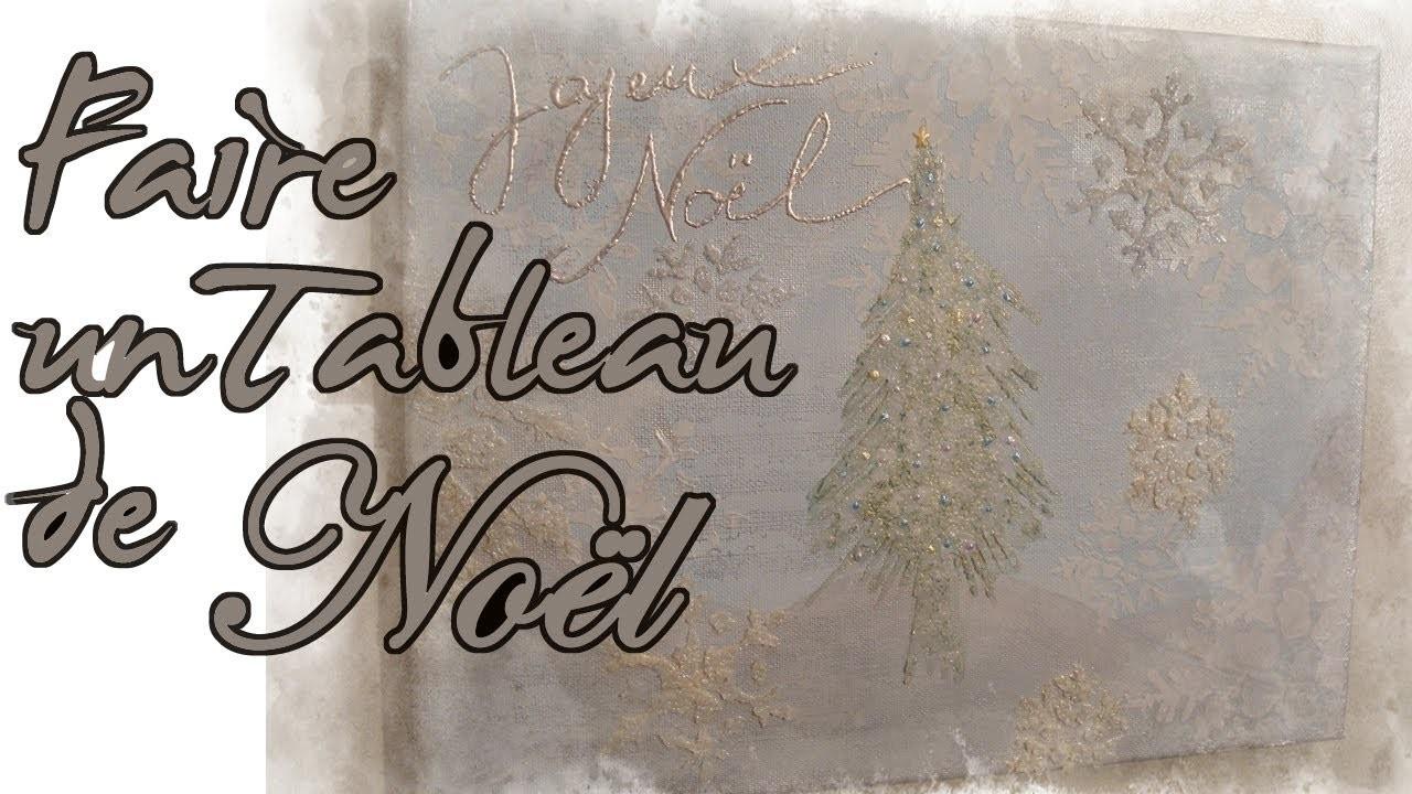 Tableau de Noël Christmas Canvas Ideas for Painting