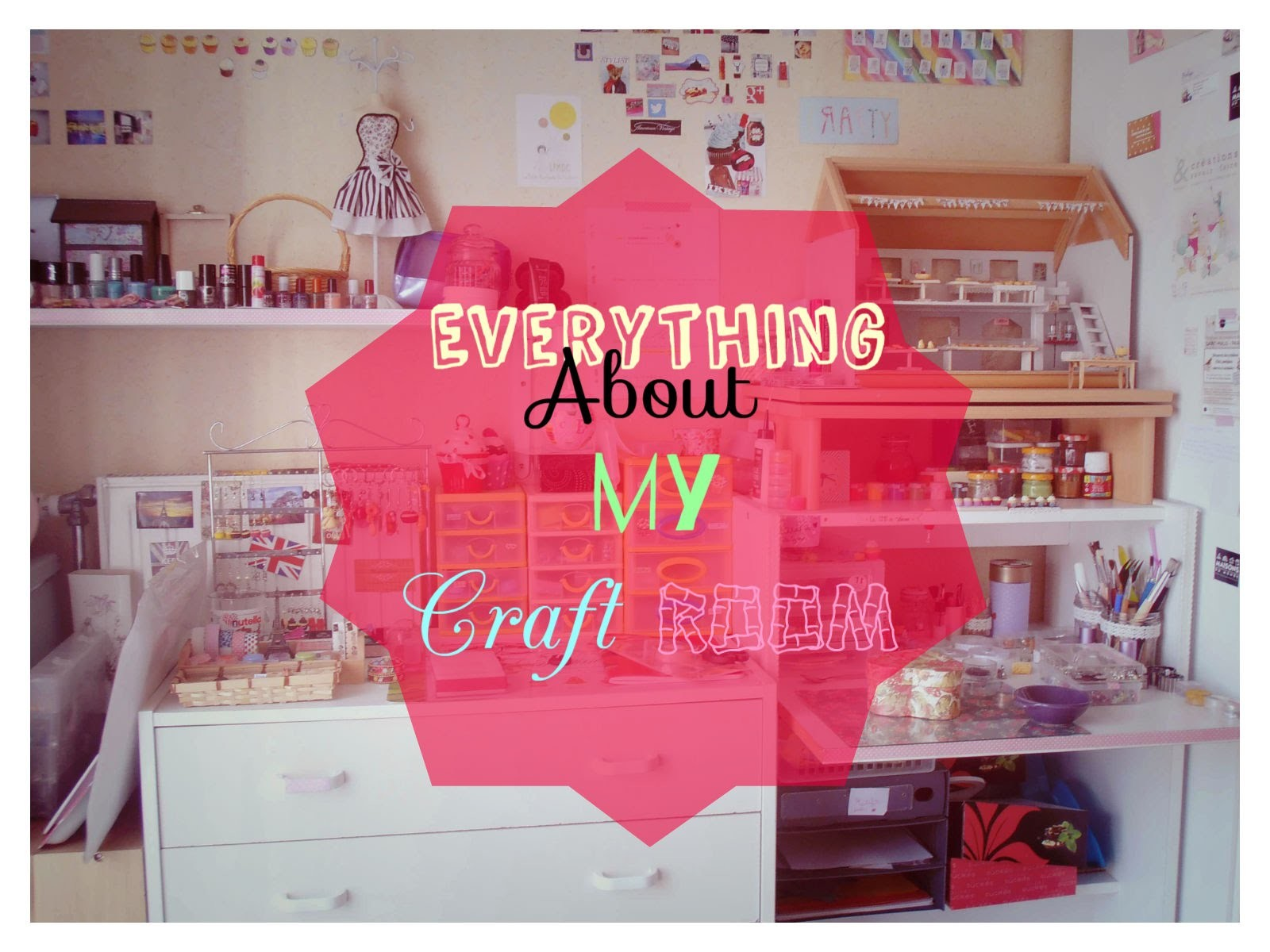 [TAG] Everything about my craft room ♥