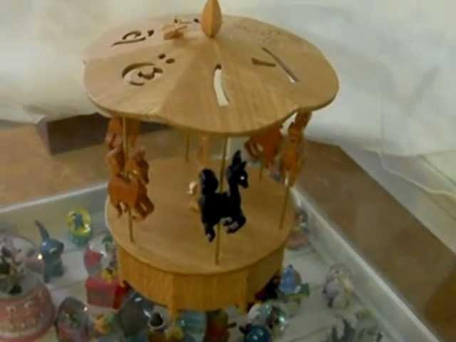 Technique de chantournage hegner carrousel chantourné en 3D - scroll saw projects carousel in 3D