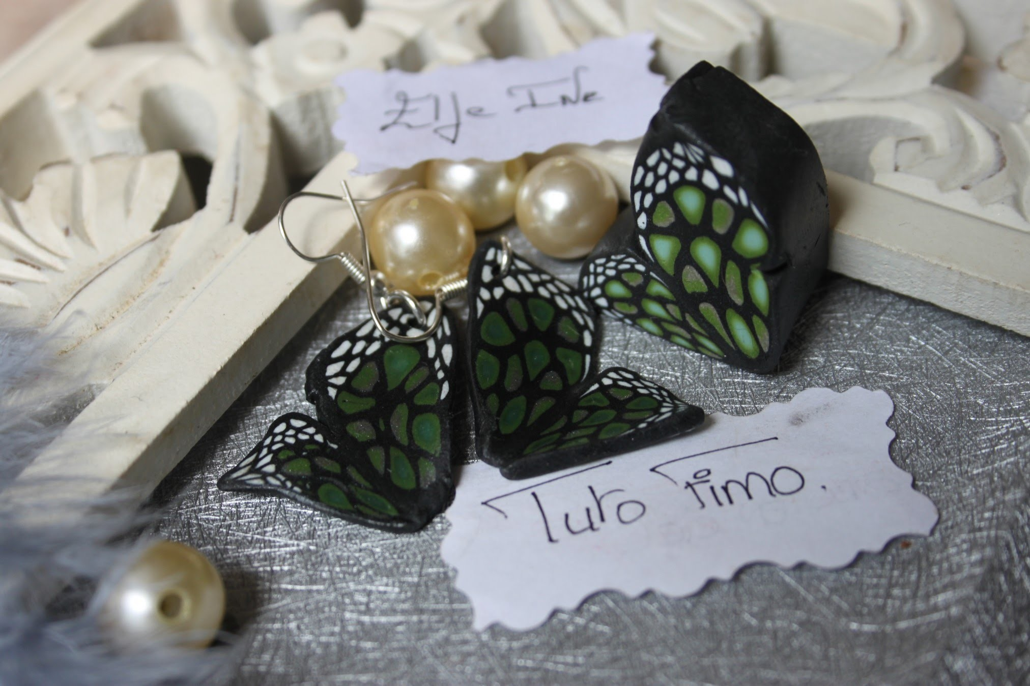 [♥✿ Tuto Fimo : la cane papillon ✿♥] ~ [♥✿ Polymer Clay Tutorial : Cane Butterfly ✿♥]