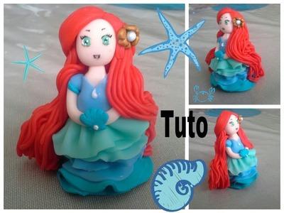 Tuto fimo princesse Ariel ★1ere partie★. polymer clay Ariel