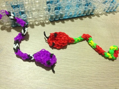Tuto Loom Bands Serpent Facile Français DIY. Tutorial Loom Bands Snake Easy DIY