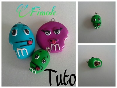 Tuto m&m's  en fimo. tutoriel polymer clay