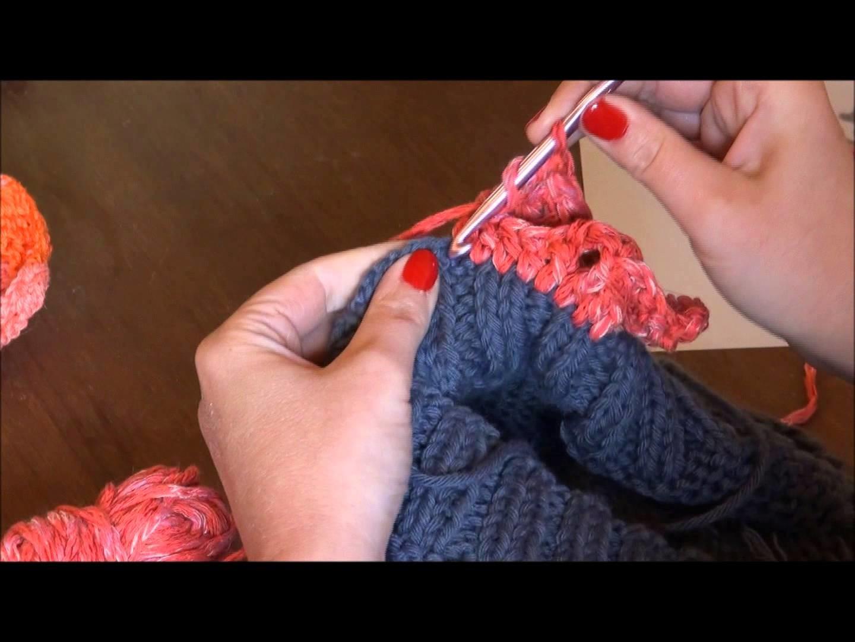 Tutoriel bordure au crochet - chale, pull.