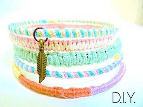 Tutoriel - DIY : Recycler vos bracelets aux couleurs pastels - Charmed Bangle Bracelets