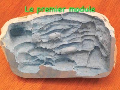 """Tutoriel réalisation d'un décor en ciment pour aquarium """"Nano Edge 20L"""""""