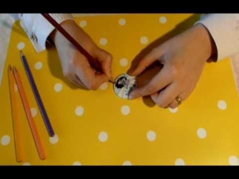 Au Doux Scrap Vidéo n°4 : les déco badges en papier : quelques techniques pour les personnaliser
