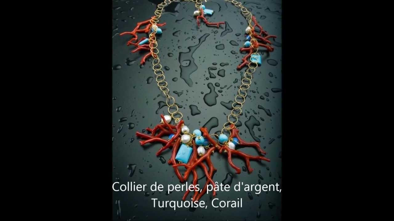 Colliers de perles et de pierres semi-précieuses - Colliers faits à la main en Italie