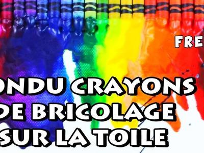 Comment Faire Fondu crayons de bricolage sur la toile | DIY French Arts & Crafts