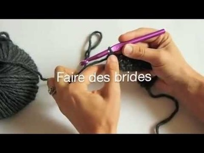 Crochet - Faire des brides - Tutoriel