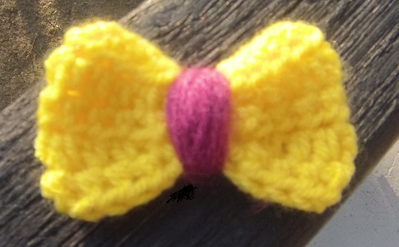 Crochet nœud papillon