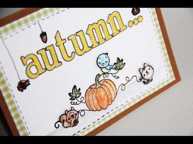 DIY # Carte scrapbooking -  Autumn.