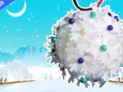 DIY Christmas Crafts: Snowflake Christmas Bauble | Flocons de Neige | Decos de Noël 2014 Tutoriel