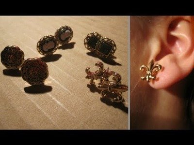DIY studded earings