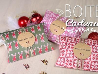 DIY - TUTO NOEL : BOITES CADEAUX BERLINGOT RECYCLER _ Pillow Box christmas upcycle (english subs)