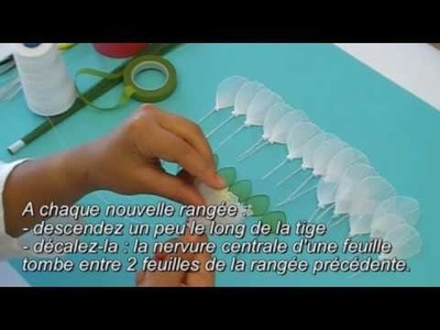 Fabrication d'une pivoine en collant. Nylon Peony