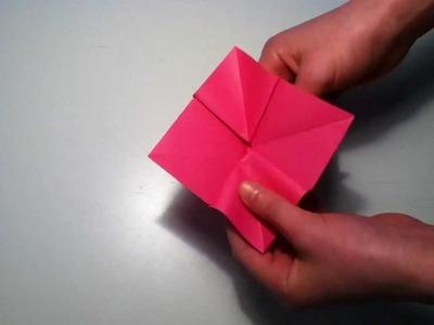 Faire une violette en origami - Fabriquer une fleur en papier