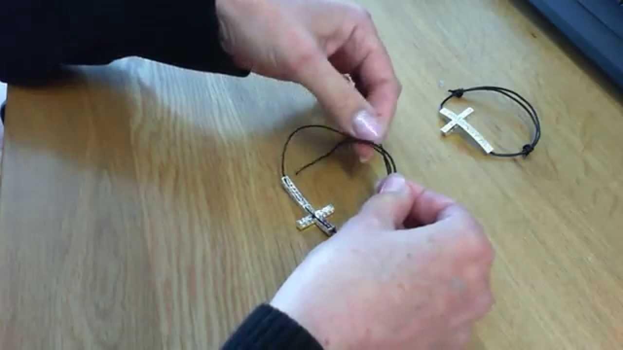 Noeuds coulissants pour bracelet