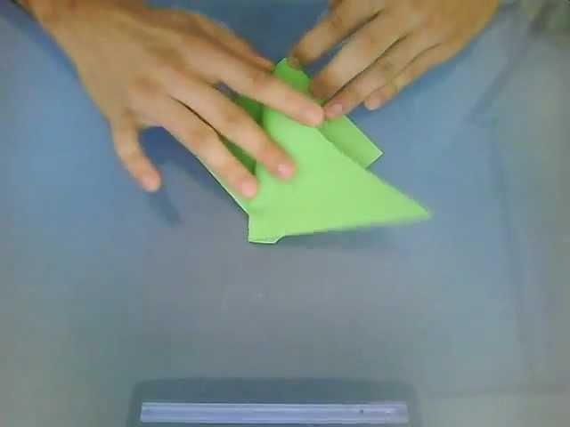 Origami - Pliage n°7 - Un têtard