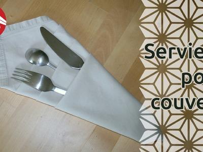 Origami - Serviette porte-couverts [Senbazuru]