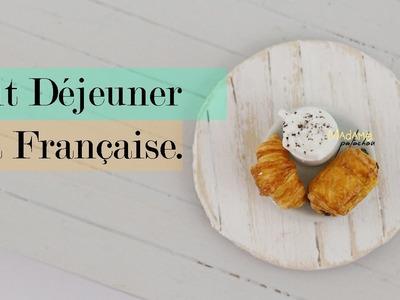 Petit déjeuner Français. Croissant et Pain au Chocolat (Tuto Fimo.Polymer Clay Tutorial)