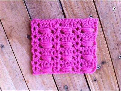 Point fantaisie 1 crochet. punto fantasia crochet 1