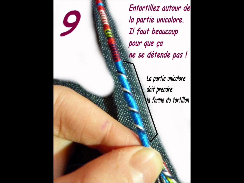 TUTO Bracelets Brésiliens. La tresse indienne (image)