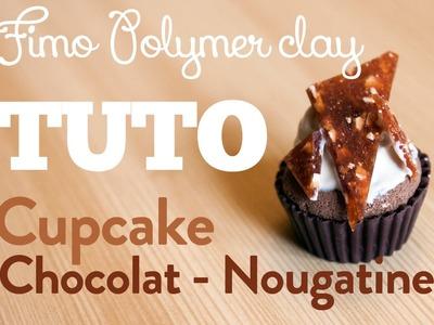 [TUTO FIMO] Cupcake NOUGATINE Chocolat & Caramel - Polymer clay Cupcake Tutorial