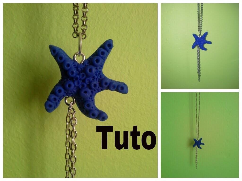 Tuto fimo étoile de mer. polymer clay starfish