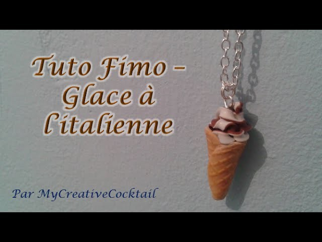 Tuto Fimo - Glace à l'italienne. Polymer Clay Tutorial - Soft ice cream