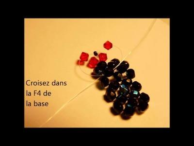 Tutoriel bague, faire une bague en perles avec les Fées Créatives: www.lesfeescreatives.com