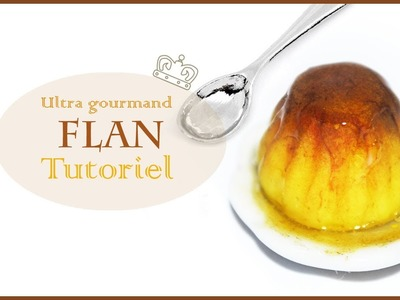 Tutoriel: Flan en pâte polymère. Pudding Polymer clay tutorial