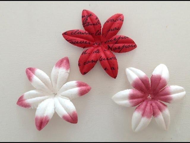 Tutoriel Scrapbooking : customiser ses fleurs