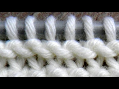 Twisted KNIT stitches.TUTO point mousse, mailles endroit torses  ( CONTINENTAL )