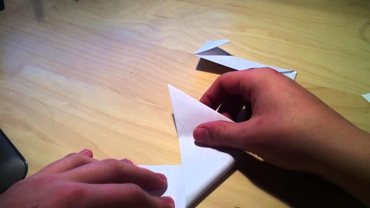 Faire un shuriken en origami - Pliage shurinken