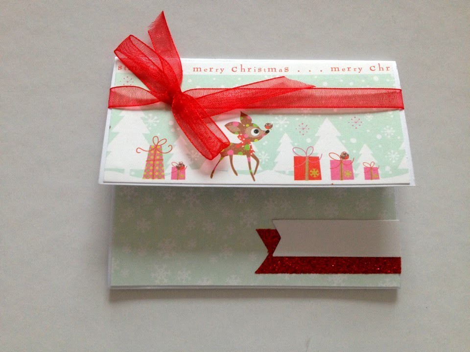 "Scrapbooking: creer une pochette  "" carte cadeau """