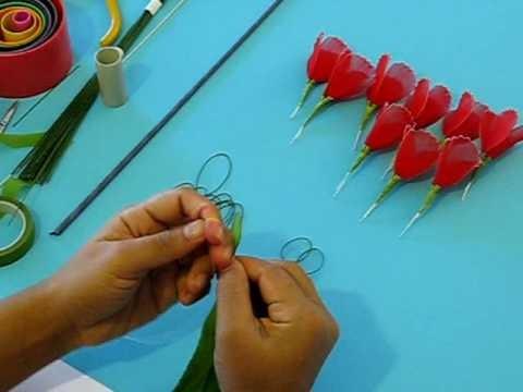 Fabrication d'un oeillet en collant. Nylon Carnation