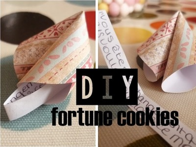 [DIY] Fortunes cookies en papier. DIY Party ideas