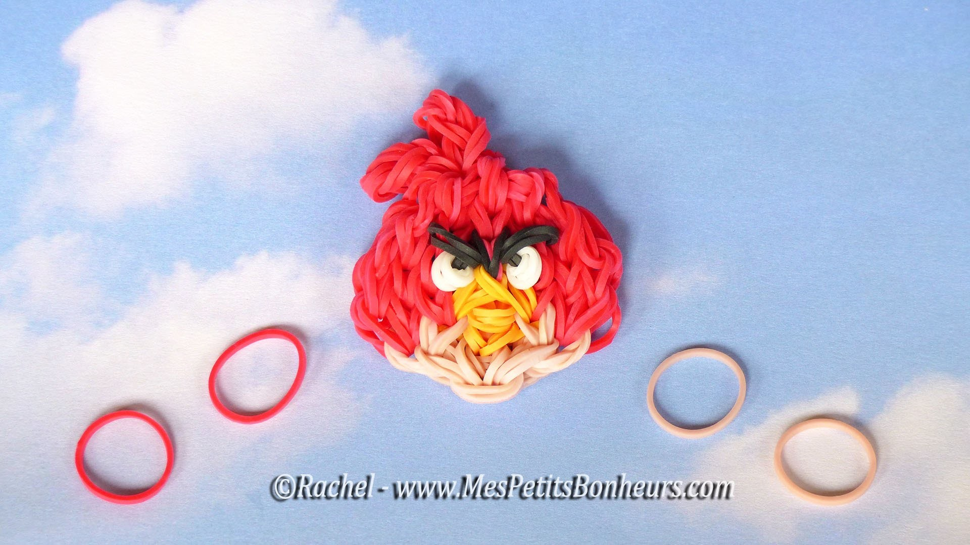 Angry Birds Loom - Tuto de Red en élastiques et support Rainbow Loom