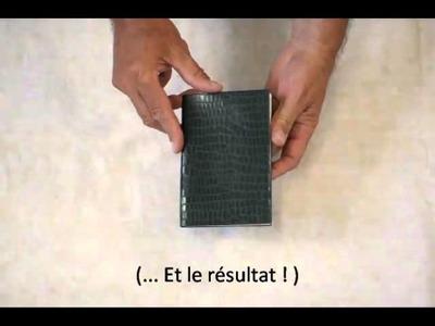 Bloc papier  Artmo et Collage direct cuir