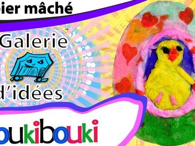 Œuf de Pâques en papier mâché - galerie COUKIBOUKI - activité artistique pour Pâques
