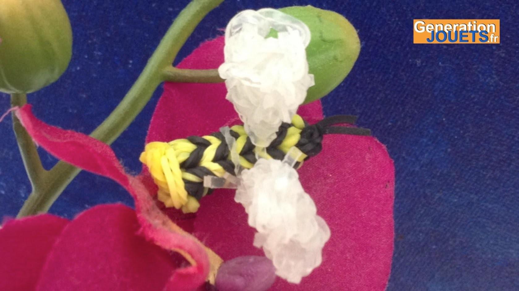 Comment créer une abeille en élastiques Rainbow Loom