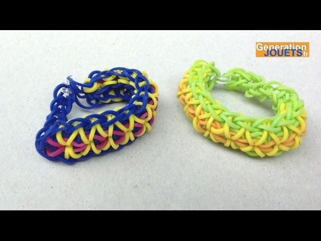 cr er un bracelet en lastique rainbow loom twister en fran ais. Black Bedroom Furniture Sets. Home Design Ideas