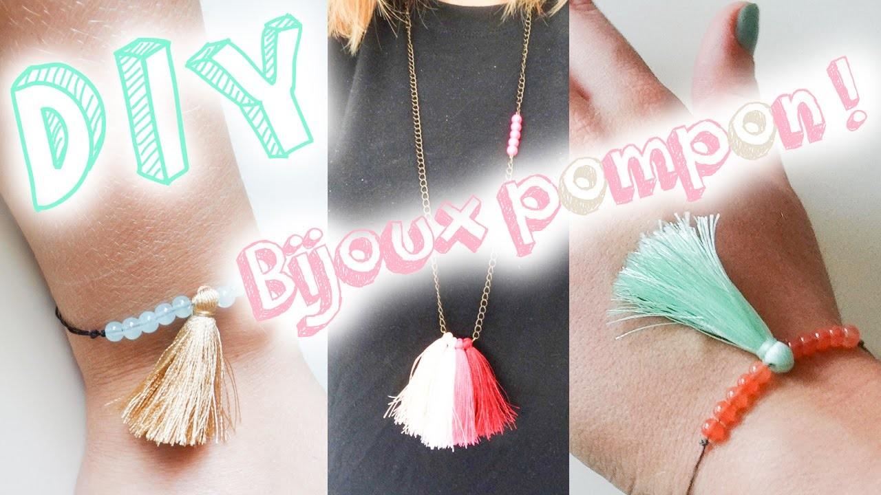 DIY #8 - Mon bracelet & collier pompons pas cher !