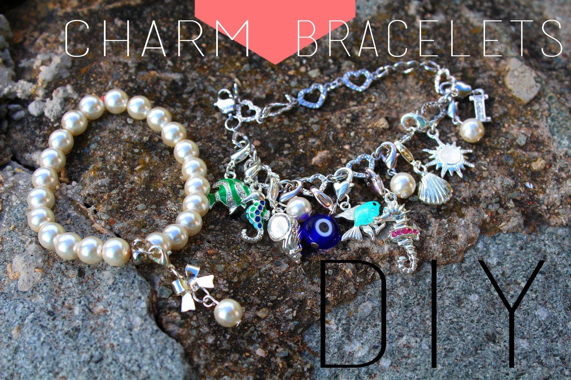 DIY : Bracelets charm Swarovski. Charm Bracelets Pandora Swarovski imitation (english subs)