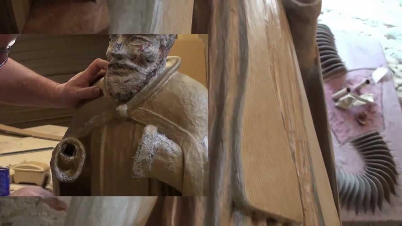 Sculpture en papier maché