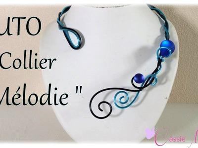 """[ TUTO ]  collier  """"Mélodie"""" en fil aluminium"""
