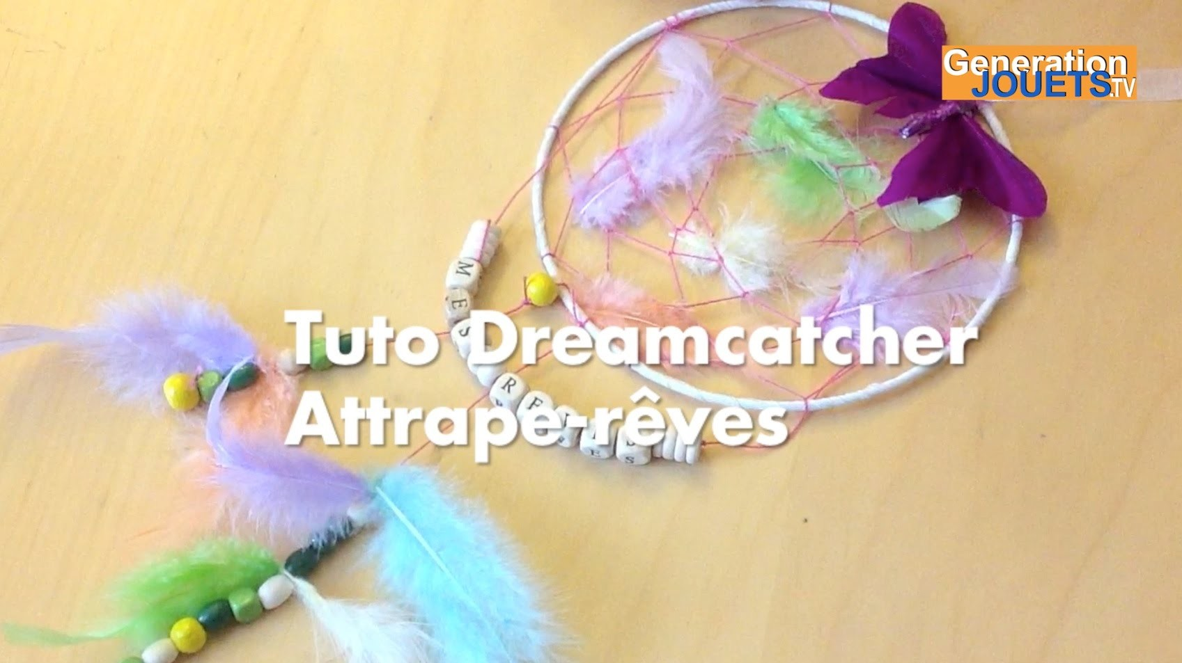 tuto diy dreamcatcher attrape r ves facile. Black Bedroom Furniture Sets. Home Design Ideas