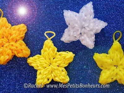 Tutoriel étoiles en élastiques Rainbow Loom - Bricolage de Noël